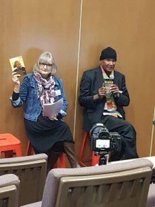 Author Sue Lawson with Monty Boori Pryor